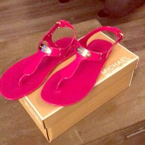 Michael Kors Plate Jelly Open Toe Synthetic Sandal
